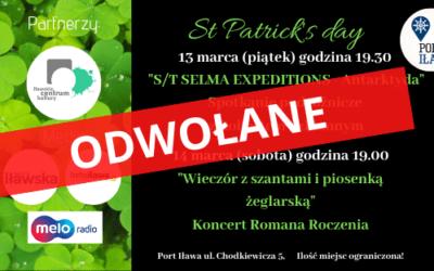 """""""Św. Patryk w Porcie Iława"""" ODWOŁANY!!!"""